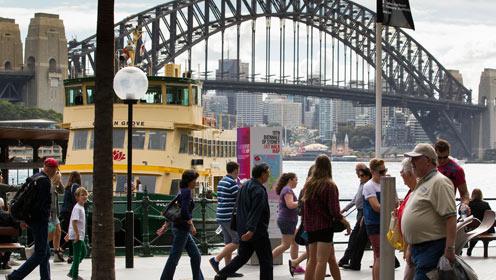 Busking in Sydney