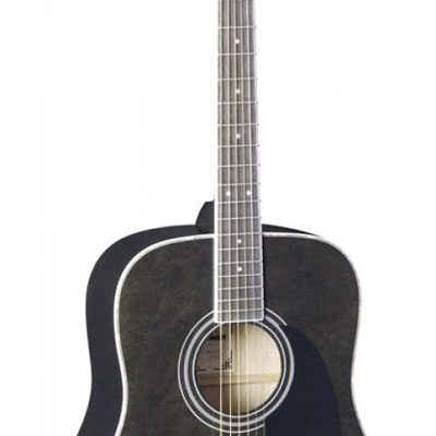 Hohner SD-65TBK Solo Series Black Figured Top Acoustic Guitar