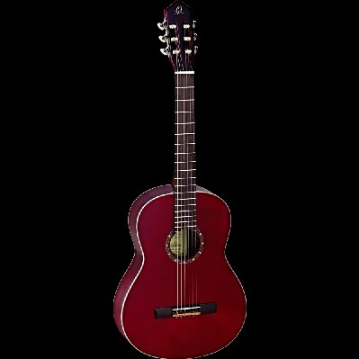ORTEGA NYLON STRING FAMILY SERIES GUITAR FULL SIZE WINE RED SPRUCE TOP Front