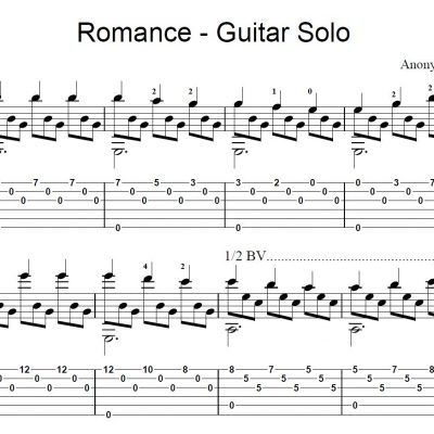 Romance Guitar Solo Sheet Music
