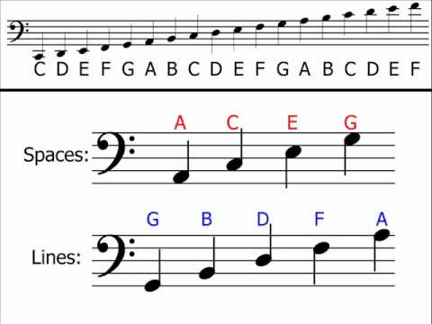 F Clef Notes | F Clef Symbol | Bass Clef