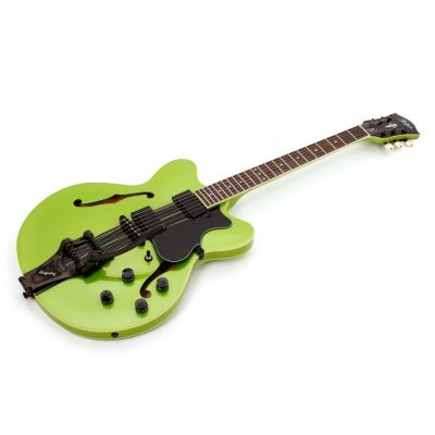 HOFNER VERYTHIN ELECTRIC GUITAR, METALLIC GREEN TOP, LIMITED EDITION