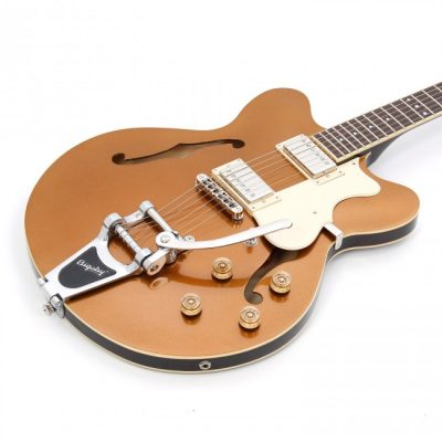 Hofner Electric Guitar Verythin Ltd Edition - Gold Top