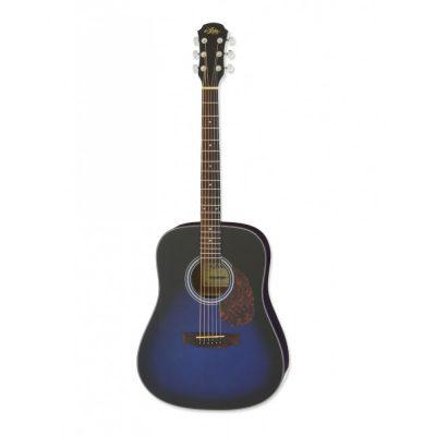 Aria ADW-01 Series Dreadnought Acoustic Guitar in Blue Burst