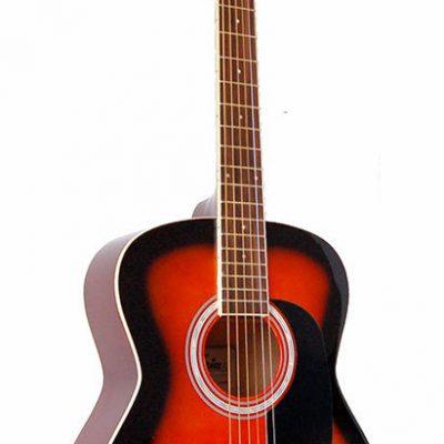 Aria AF-15 Folk Body Acoustic Guitar in Brown Sunburst