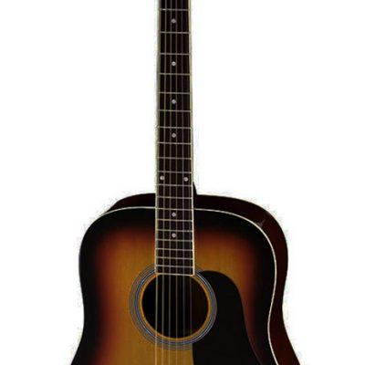 Aria Fiesta Series Dreadnought Acoustic Guitar in Brown Sunburst