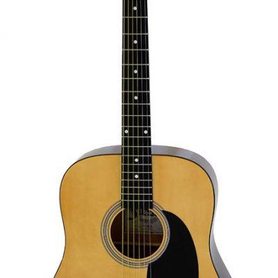 Aria Fiesta Series Dreadnought Acoustic Guitar in Natural